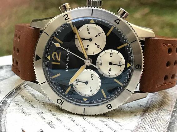 Reloj Dan Henry 1963 Cronografo Estilo Antiguo Piloto