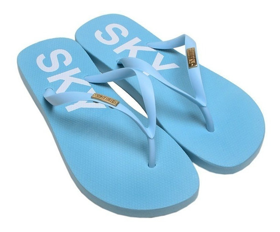 Chinelo Feminino Flip Flop Santa Lolla Azul Sky