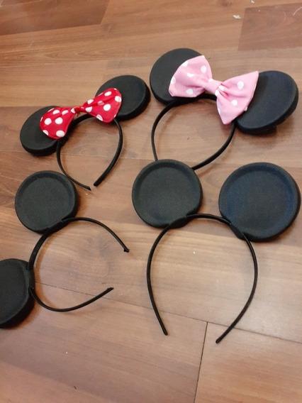 Vincha Disfraz Souvenir Minnie Mickey Con Moño A Elección
