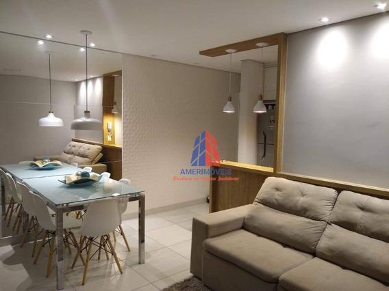 Apartamento Com 3 Dormitórios À Venda, 70 M² Por R$ 370.000 - Residencial Villa Unita - Santa Cruz - Americana/sp - Ap0908