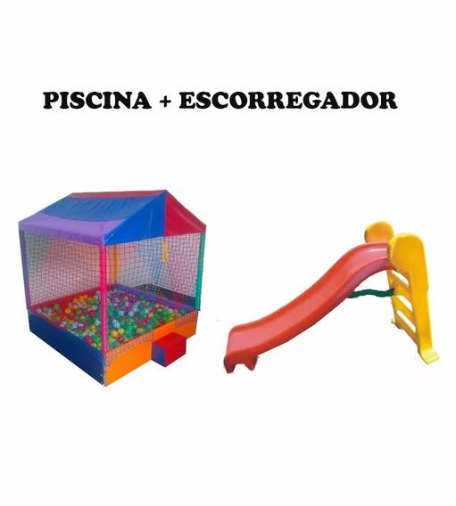 Piscina 2m C/2000 Boli + Escorregador