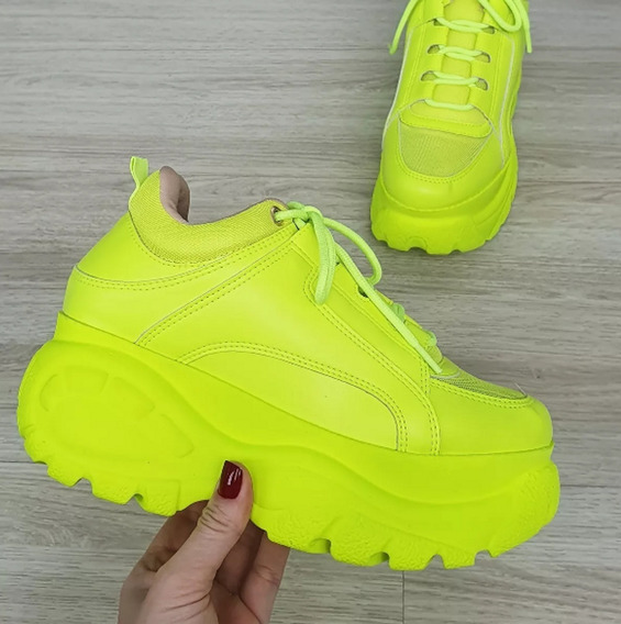 Tenis Chuncky Bufallo Sneakers + 1 Kit C/ 3 Pares De Meias6