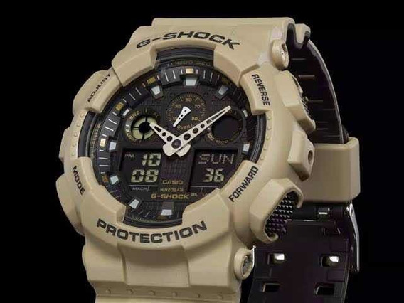 Relógio Cássio G-shock Ga100l-8a Ga 100 Bege Original