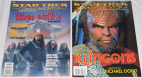 Star Trek Communicator Lote Klingons 2 Revistas Importadas