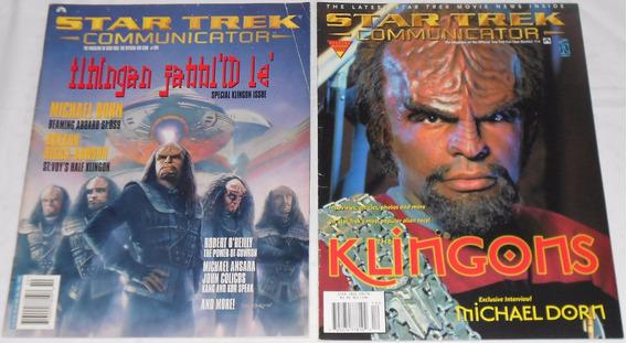 Star Trek Communicator Lote Klingons 2 Revistas Importadas