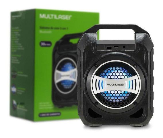 Caixa De Som Portatil Multilaser 5.1 30w Rms Sp313 Bluetooth