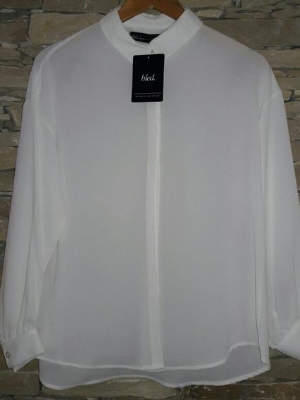 Camisa Mujer Crepe Día/noche Oficina Caida Espectacular!!