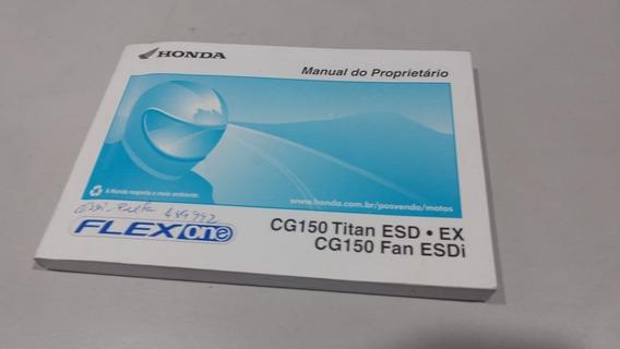 Manual Do Proprietario Honda Cg 150 Titan Fan Usado