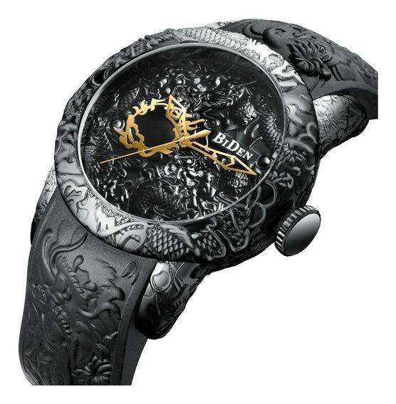 Relógio Biden 0129 Original Estojo E Nota Fiscal