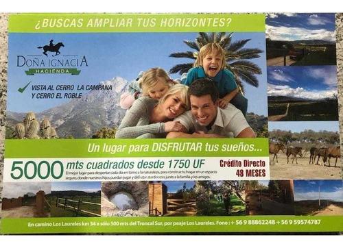Imagen 1 de 5 de Lindas Parcelas En Limache, 5000m1 - 300, Credito Directo Y