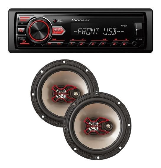 Aparelho Mp3 Radio Automotivo Pioneer Fm Usb + Falante 06