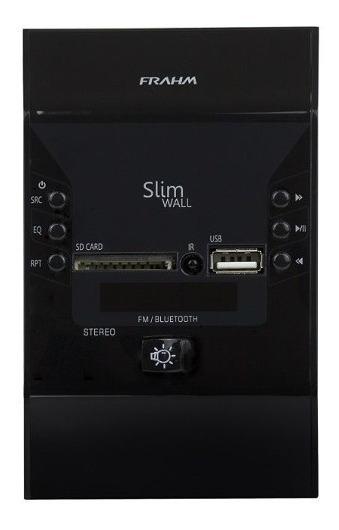Promoção! Amplificador Frahm Slim Wall Preto Bluetooth Usb