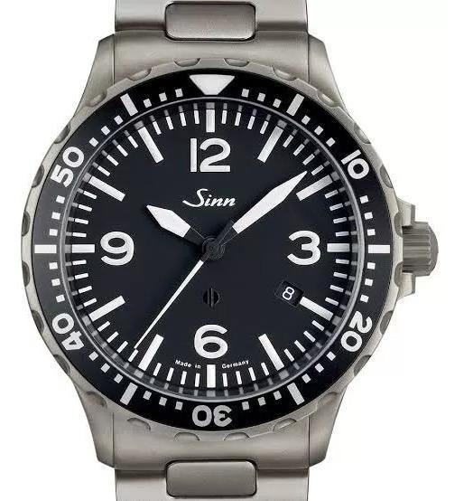 Relógio Sinn 857b Alemão Com Bracelete E Pulseira De Couro