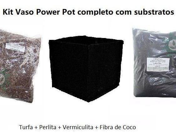Kit Vaso Power Substratos Perlita Vermiculita Coco Cultivo
