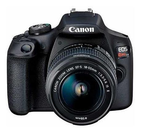 Câmera Canon Eos Rebel T7 Kit Com Lente 18-55mm + Bolsa
