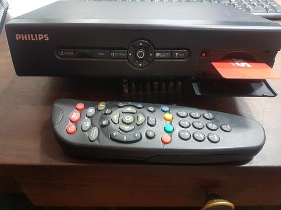 Receptor Sky Philips Dsr3421/78 Com Controle Remoto
