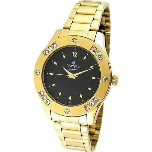 Relógio Champion Elegance Feminino Cn27429u Dourado