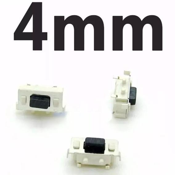 Botão Interno Power Volume Tablet 4mm Kit 10und Frete Inclus