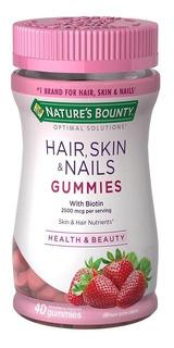 Natures Bounty Hair Skin & Nails Gummies X 40 Comp
