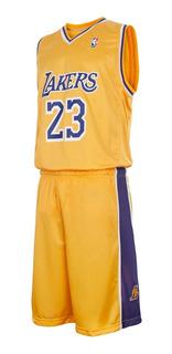 Conjunto Basket Lakers Lebron James Nba Camiseta Cuotas