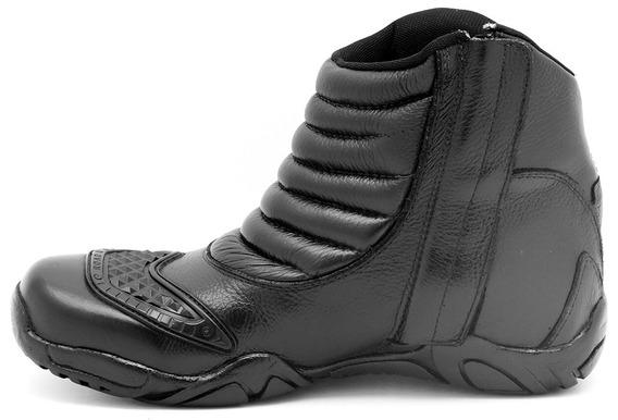 Bota Motorcycle Em Couro Atron Shoes Ref 279