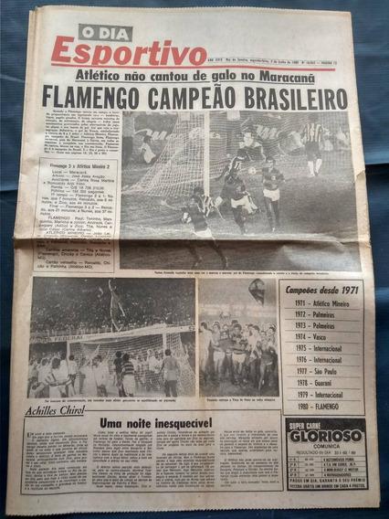 O Dia Esportivo - Flamengo Campeão Brasileiro 1980 C/ Pôster