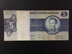 Cédula Cinco Cruzeiros D.pedro 1