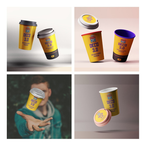 5 Mockup Vaso Termico Cafe Bebidas Calientes Photoshop Pack1