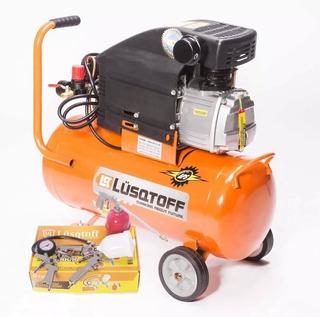Compresor Aire Lusqtof 24 L Kit 5 Portatil Inflador