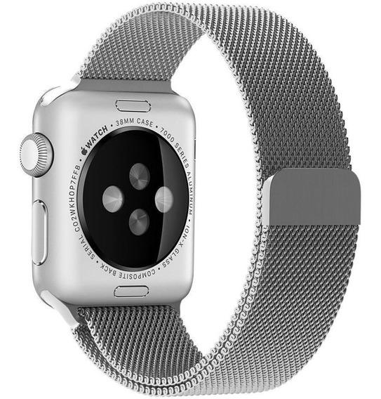 Pulseira Milanese Loop Aço Para Apple Watch 1/2/3/4 38/40mm