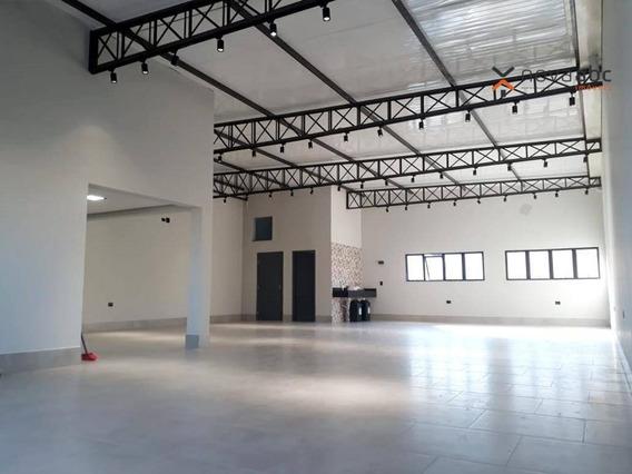Salão Para Alugar, 174 M² Por R$ 4.500/mês - Parque Novo Oratório - Santo André/sp - Sl0076