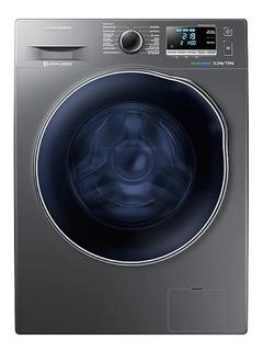 Lavadora e secadora de roupas automática Samsung WD11J6410 aço inoxidável 11.5kg 110V