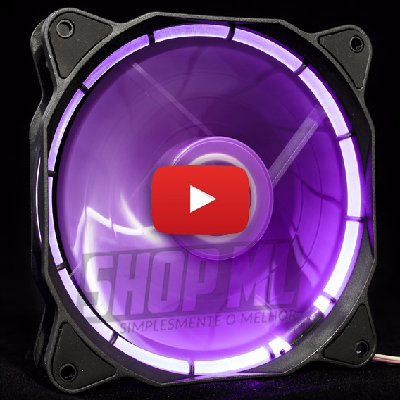 Cooler Fan Pc Gamer 120mm Led Roxo Ventoinha Dx-12f