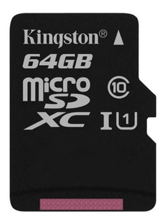 Memoria Micro Sd Kingston 64 Gb Cs 80 Mb/s Uhs-i U1 C10 + Sd