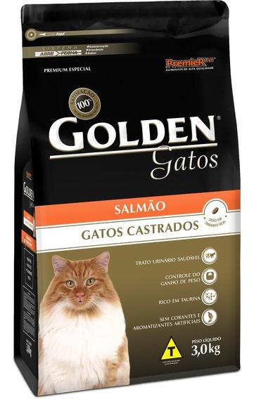 Ração Para Gatos Castrados Golden 10,1 Kg Salmão