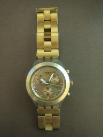 Relógio Swatch Irony Diaphane Full-blooded Dourado Usado
