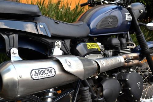 Imagen 1 de 15 de Llamativa Triumph Scrambler 900 Lista Para Rodar Poco Uso