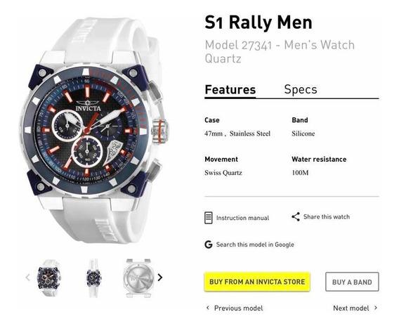 Relógio Invicta Modelo 27341 S1 Rally Men 100% Original