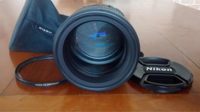 Lente Nikon 85mm 1.4 Com Filtro, Super Nova + Bag Da Lente