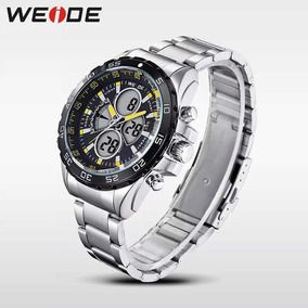 Relógio Weide 1103 Prata Digital Analógico Promoção C/caixa