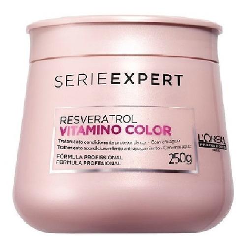 Imagem 1 de 10 de Máscara L'oréal Professionnel Serie Vitamino Color - 250 Ml