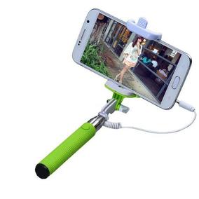 Bastão Para Selfie Disparador Via Cabo P2