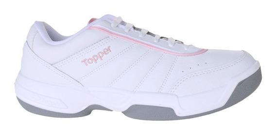 Zapatillas Topper C Tennis Tie Break Ii Kids Niña Bl/rs