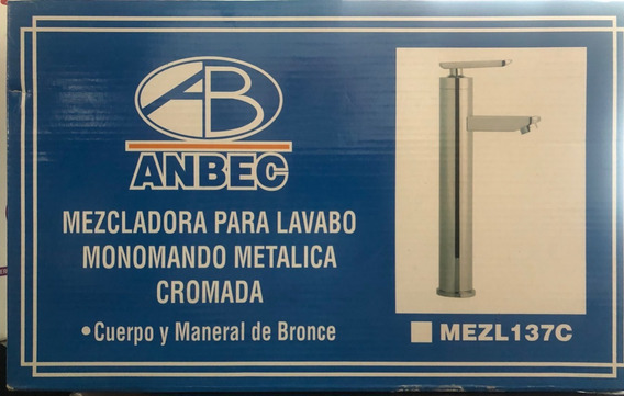Mezcladora Para Lavabo Monomando Metalica Cromada Ambec
