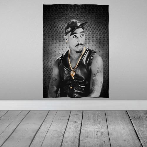 Imagem 1 de 3 de Stompy Tecido Decorativo Decoração Rap Hip Hop 2pac 01