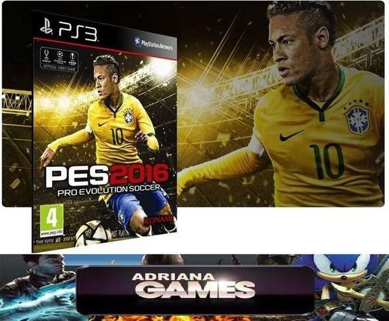 Pes 2016 Ps3 Digital Jogo Psn Game Brasil