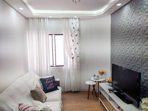 Imagem 1 de 30 de Apartamento Com 3 Dormitórios À Venda, 130 M² Por R$ 380.000 - Vila Scarpelli - Santo André/sp - Ap9878