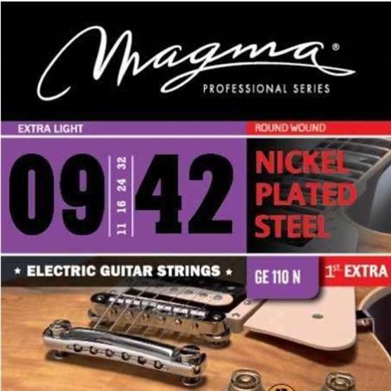 Encordado Guitarra Eléctrica Magma .009 Ge110n Leomusic