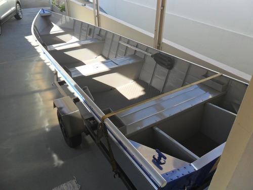 Barco Aluminio 6mts Borda Alta Ok...super Reforçado.