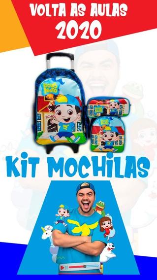Kit Mochila Infantil Luccas Neto Gi Bolsa Feminina Rodinhas